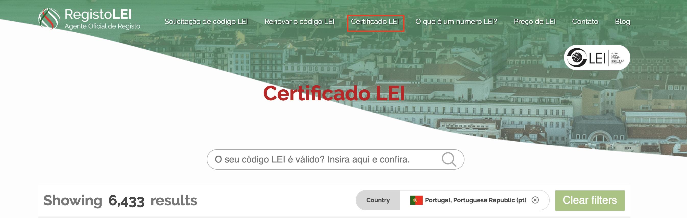Certificado LEI